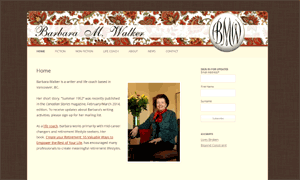 Barbara Walker site screenshot