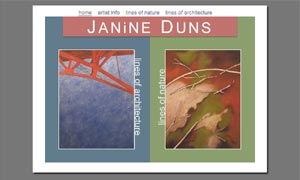 Janine Duns site screenshot