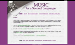 MusicAsASecondLanguage site screenshot