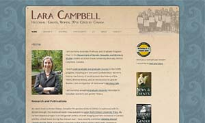 Lara Campbell site screenshot