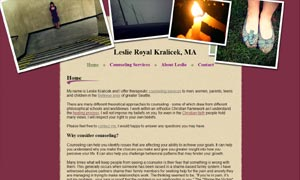 Leslie Royal Kralicek site screenshot