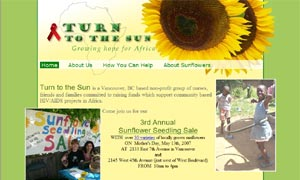 Turn To The Sun site screenshot